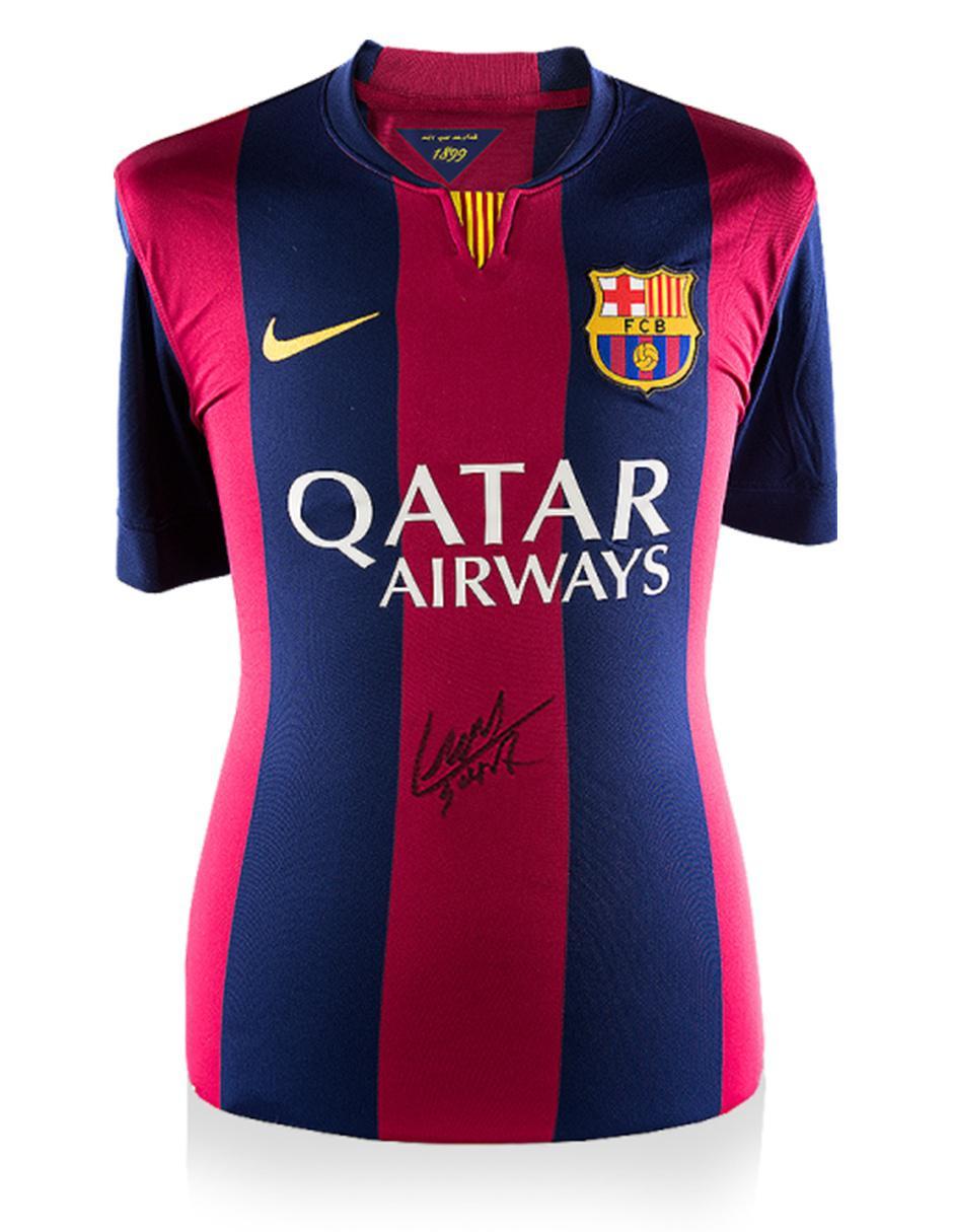 official photos a20a4 ea739 Jersey autografiada Idolos FC Barcelona Luis Suárez