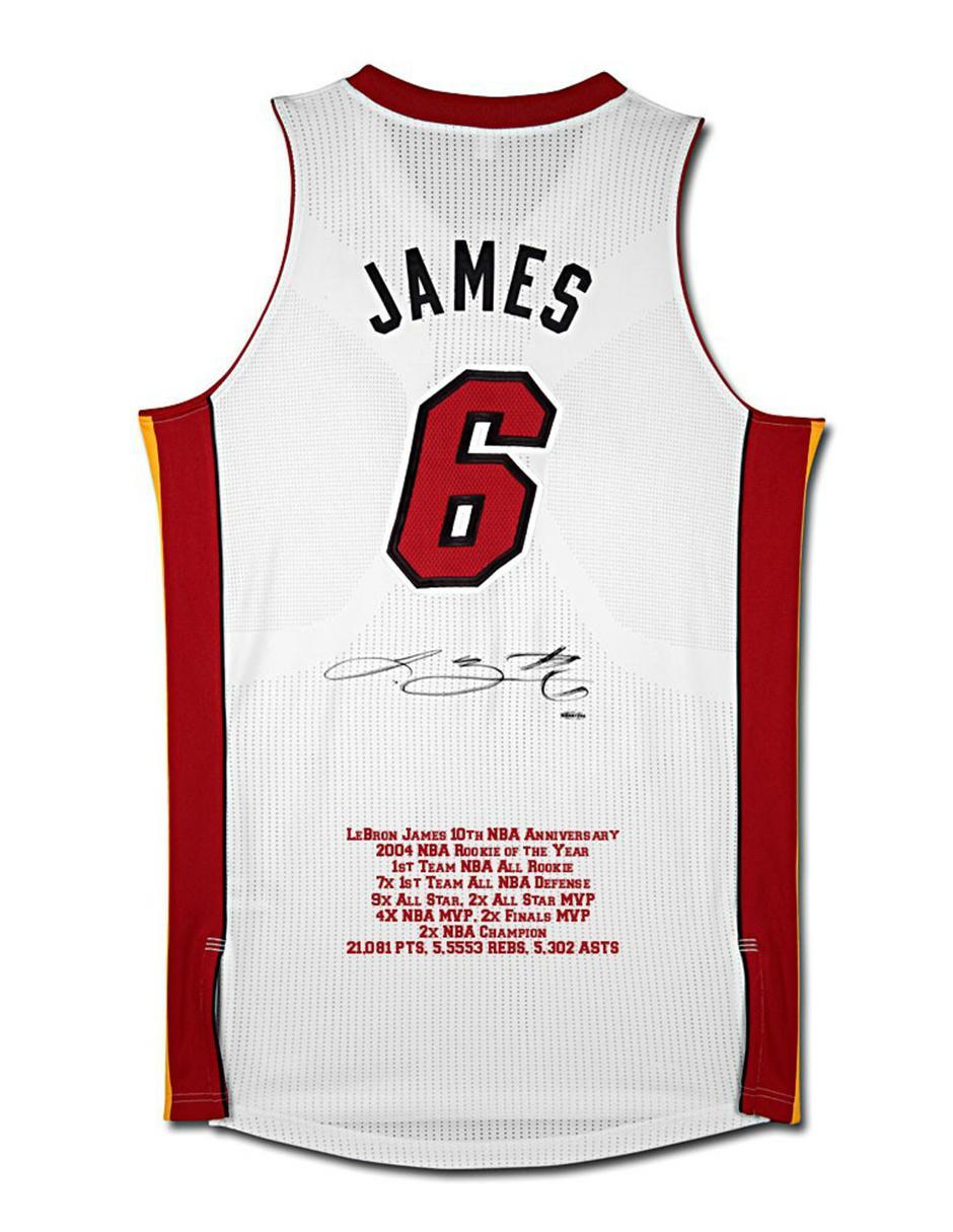 new arrivals 0f752 a4cd1 Jersey autografiada Idolos Miami Heat LeBron James